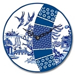 Blue & White Willow 14.5 cm Clock