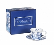 Blue & White Willow 250 cc Cup & Saucer Set