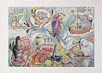 May Gibbs Australian Natives Tea Towel