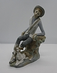 Estate Lladro Country Man with Dog