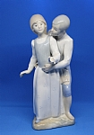 Estate Made in Spain Girl and Boy Figurine