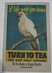 Vintage Tea Cockatoo Ad Tea Towel