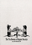 Two Doggies having a High Tea Linen Tea  Towel