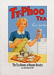 Vintage Lady with Tray Tea Towel